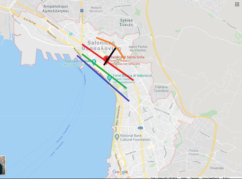 Le principali strade di Salonicco
