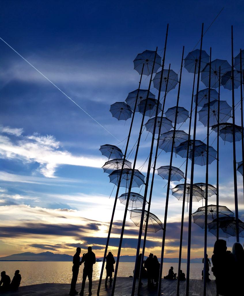 Nell'Itinerario su cosa vedere a Salonicco, non può mancare una visita agli ombrelli